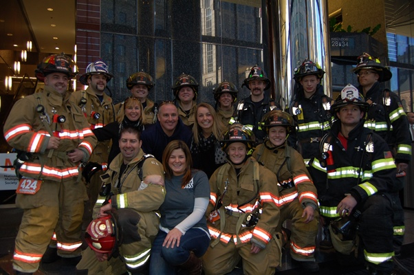 Firefighter Group Photo, Climb to the Top Boston 2016
