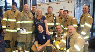 Firefighters with Lori Grande, 2013 Climb to the Top